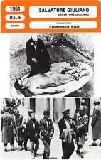 FICHE CINEMA : SALVATORE GIULIANO - Randone,Wolff,Rosi 1961