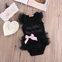 Newborn Baby Girl Infant Romper Jumpsuit Sunsuit Outfit Clothes Bow-knot Lot Q