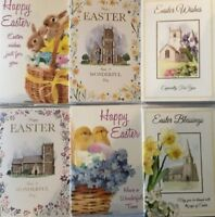 HAPPY EASTER CARD CARDS ***RELIGEOUS**CHURCH***CUTE***1ST CLASS POST**(N6)
