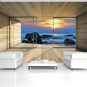 Vließ Fototapete Tapete Wandbild Felsiges Meer Aussicht 320053_VENMVT
