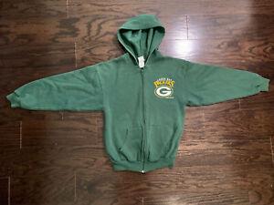 Vintage 1997 GREEN BAY PACKERS NFL Football Hooded Full Zip Sweater Women's XS
