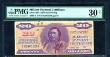 20 DOLLAR MILITARY PAYMENT CERTIFICATE SERIES 692 FIRST PRINTING PMG 30 NET*