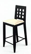 Dolls House Black Bar Stool High Chair Miniature Kitchen Pub Furniture 1:12