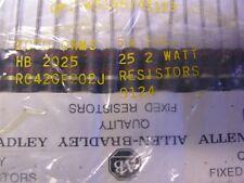 2 Allen Bradley RC42GF202J 2K 2W 5% Carbon Comp Resistors