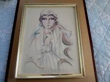 Pola Negri Vintage Fashion Art Print by Melanie Framed Under Glass  SA-350