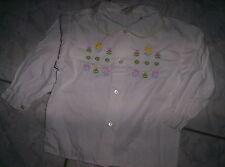 """Zuckersüße weiße Bluse"""" Benetton"""", bestickt, neuw. Gr.80/86"""