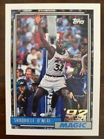 1992-93 SHAQUILLE O'NEAL Topps Rookie #362, Orlando Magic RC HOF Lakers