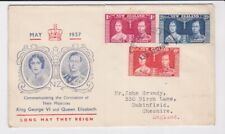 New Zealand Stamps 1937 Coronation First Day Cover Postal History
