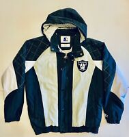 Vintage Starter Oakland Raiders NFL G-III Men's Large Full Zip Hooded Jacket