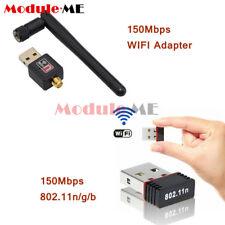 Mini USB2.0 150 Mbps 802.11N/G/B Antena Wifi Tarjeta de red LAN Adaptador De Red Inalámbrica