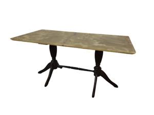 Tavolino inglese stile Regency - piano in onice - vintage modernariato - anni 50
