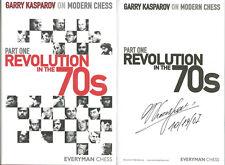 Garry Kasparov SIGNED AUTOGRAPHED Revolution in the 70s Part 1 HC 1st Ed/1st P