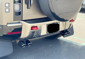 Land Rover Defender 110 SE HSE XS X L663 2020 2021 2022 Exhaust Muffler Tips BLK