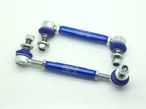 PAIR SuperPro Antiroll/Sway Bar Universal Adjustable Drop Links 12mm x 160-205mm