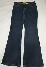 Gasoline Womens Blue Jeans Denim Snap Fly Bootcut Flare Stretch Size 7