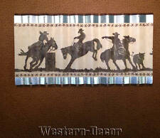 Wiggle Art Metal Western Horse Rodeo Barrel Racing Wallpaper Border Picture