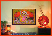 hindu krishna radha swing sequin wall hanging indian ethnic decor tapestry art