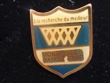 PINS RARE VINTAGE SPORT MONTPELLIER BASKET BALL CLUB wxc b