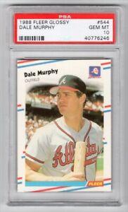 1988 FLEER GLOSSY 544 DALE MURPHY - PSA 10 GEM-MT Atlanta Braves