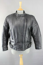 CLASSIC BLACK LEATHER JTS BIKER JACKET 40 INCH