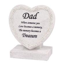 Dad Heart Shaped Memorial Grave Plaque Cremation Marker