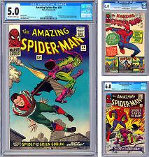 AMAZING SPIDER-MAN #38-39-40 CGC 6.0-5.0-6.0 *LAST DITKO & 1ST ROMITA ASM* 1966