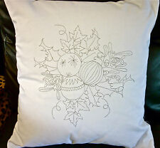 Printed to embroider Cushion Cover Christmas Bauble Freestyle Embroidery CSO102