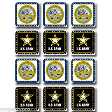 US ARMY DRINK COASTERS DECORATIONS Party Supplies FREE SHIPPING NEW