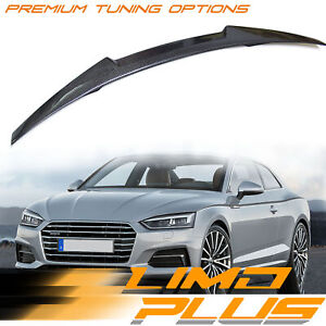 Carbon Fiber Rear Trunk Spoiler Wing M4 Style for AUDI A5 F5 2-Door Coupe 16-21