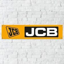 JCB Banner Garage Workshop PVC Sign Trackside Display Fastrac Digger