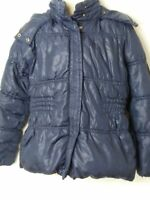 GIRLS ZARA KIDS NAVY BLUE HOODED PADDED QUILTED COAT JACKET KIDS AGE 5-6 YEARS