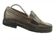 Bass Flex Monroe Men's Brown Leather Slip-on Penny Loafer 9M