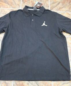 Nike Air Jordan Golf Polo Shirt Jumpman Black 688580-010 Men's Sz XL Cotton
