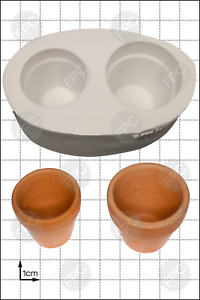 Silicone mould 3D Flower Pots | Food Use FPC Sugarcraft FREE UK shipping!