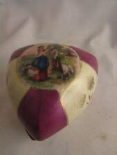 ancienne boite bonbonniere faience art deco decor de bergeres