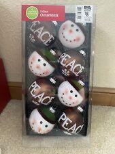 Snowman Peace Christmas Holiday Ornaments