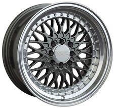 XXR 536 15X8 Rims 4x100/114.3 +0 Gunmetal Wheels Fits Corolla Golf Passat Cabrio