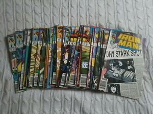 Lot of 34  Iron Man 243 -295  Marvel   1989 to 1993