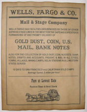 Wells, Fargo, & Company Stagecoach Line Ad Poster, old west, western, wanted