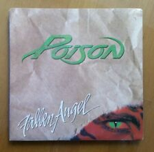 """POISON - FALLEN ANGEL - 7"""" VINYL SINGLE WITH PICTURE COVER- 1990 - EXCELLENT"""