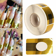 500pcs Gold Sticker Tool Nail Art Form Acrylic UV Gel Extension Decoration Tips