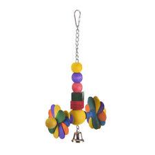 Happy Daisy Wheel , Buntes Holz Spielzeug, Windmühle, Glocke, für Großsittiche