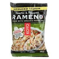 Koyo Ramen - Organic - Garlic Pepper - Reduced Sodium - 2.1 oz - case of 12