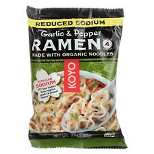 Koyo Ramen - Organic - Garlic Pepper - Reduced Sodium - 2.1 oz - case of 12