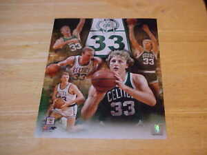 """Larry Bird """"33"""" Raised Rafters Celtics LICENSED 8X10 Photo FREE SHIPPING 3/more"""
