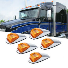 5x 17 LED Amber Top Cab Roof Clearance Marker Running Warning Light For Kenworth