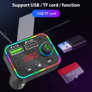 Bluetooth FM Transmitter Wireless Car Radio MP3 Player 2 USB Charger Handsfree