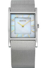 Bering Women 10426-010 Classic White Dial Silver Stainless Steel Mesh Band Watch