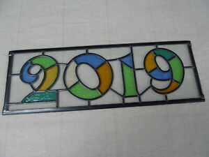 Newly crafted TRADITIONAL Stained Glass Window Panel  2019 YEAR 547mm by 190mm