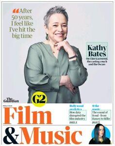 UK Guardian G2 January 2020: KATHY BATES James Bond BILLIE EILISH Algiers